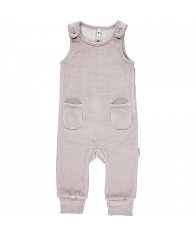 Maxomorra Playsuit Pocket Velours Grijs