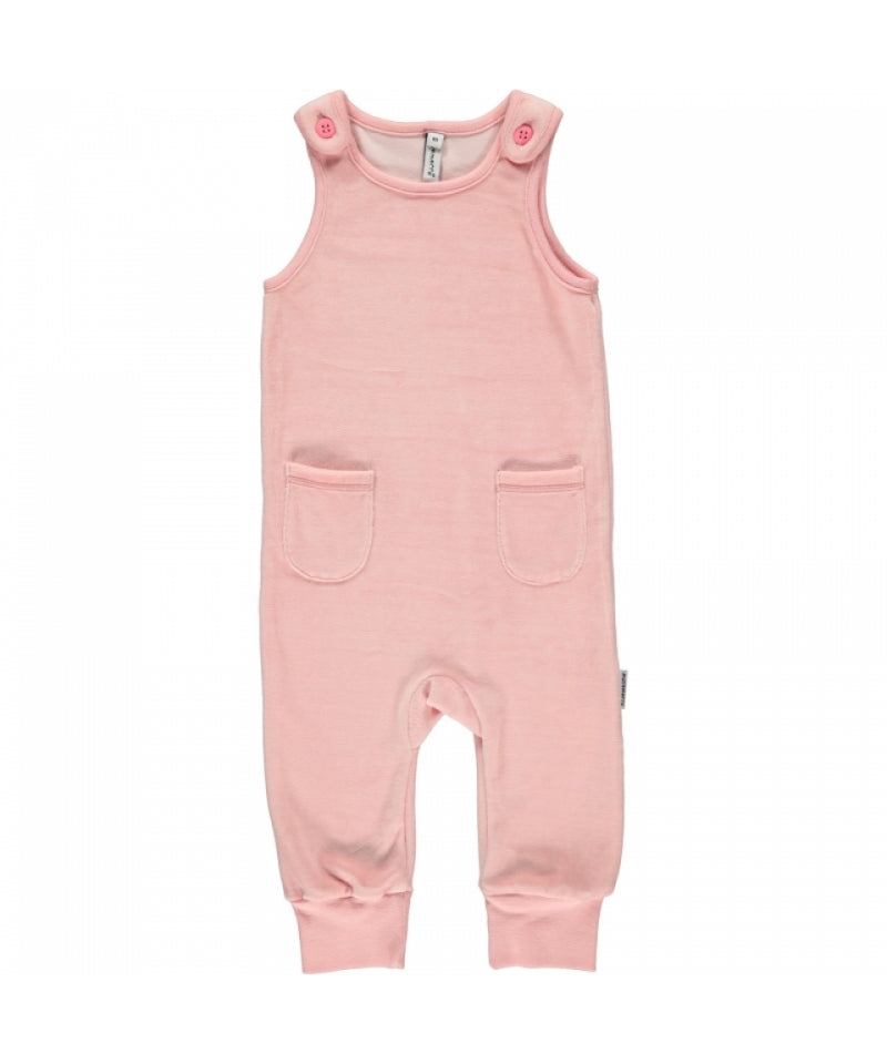 Maxomorra Playsuit Pocket Velours Pink