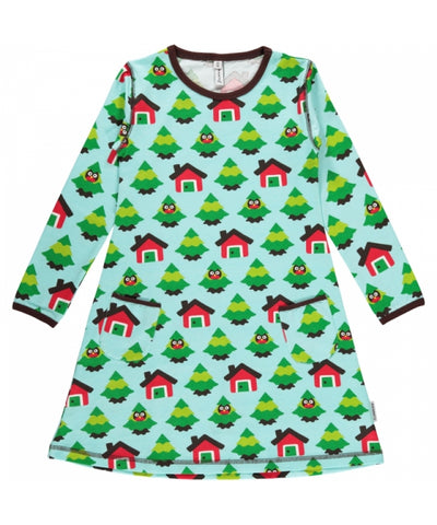 Maxomorra Dress Forest Jurk Bos