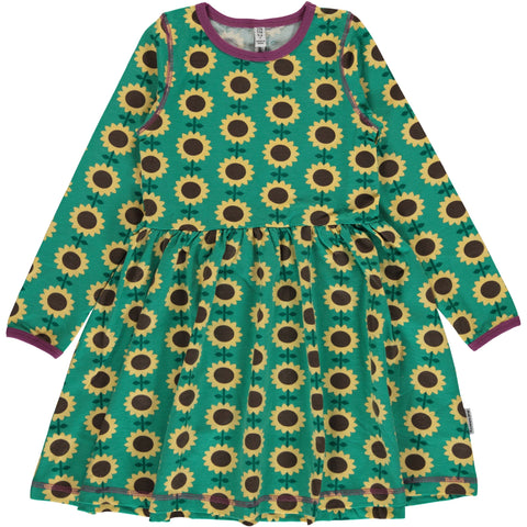 Maxomorra Dress Spin Sunflower - Zwierjurk Zonnebloemen