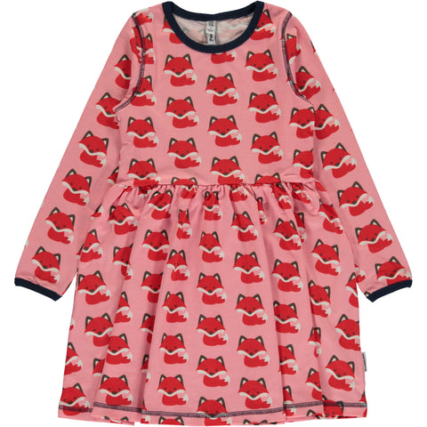 Maxomorra Dress Spin Foxes - Zwierjurk Vosjes