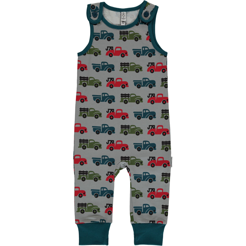 Maxomorra Playsuit Trucks - Playsuit Vrachtwagens