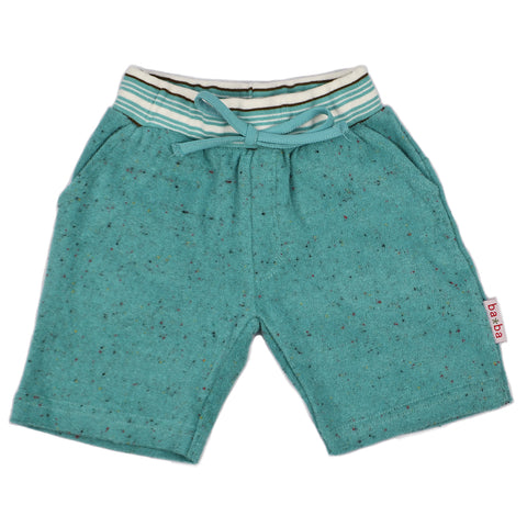 Baba Babywear - Pant short Speckled Terry Aqua
