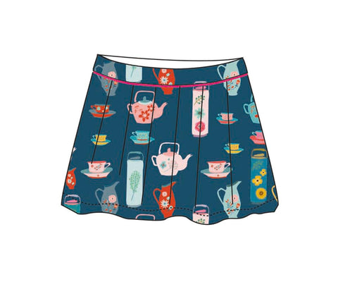 Baba Babywear Skirt Tea Party - Blauw Rokje Theeserviesje