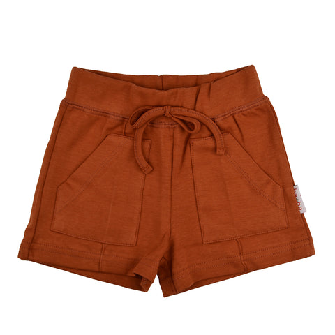 Baba Babywear - Pocket short Ginger bread - Oranjebruin
