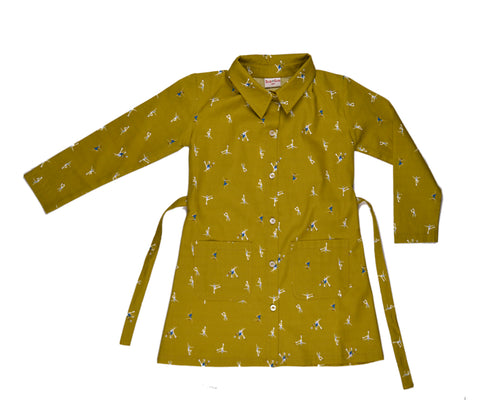 Baba Babywear Polo Dress Dancers Yellow - Gele Jurk Dansers