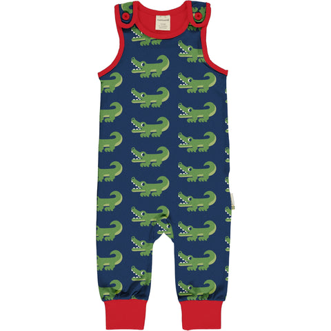 Maxomorra Playsuit Krokodil - Dungaree Crocodile