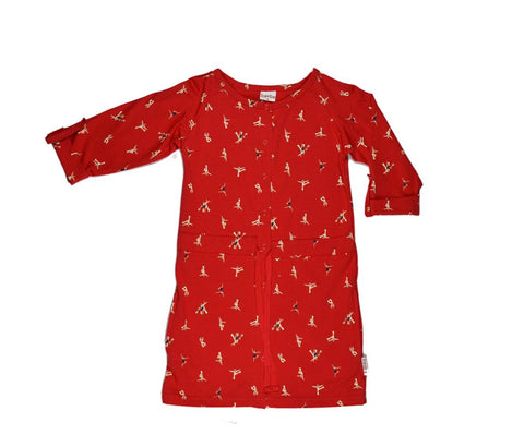 Baba Babywear Raglan Dress Dancers Red - Rode Jurk Dansers