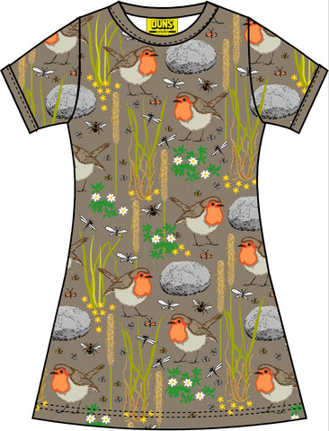 Duns Sweden - Shortsleeve Dress Robin Timber Wolf