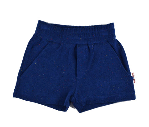 Baba Babywear Short Pants Terry Blue  -Korte Badstof Broek