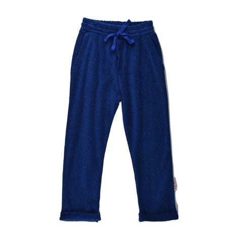 Baba Babywear - Baggy Pants Speckled Blue Terry - Badstof Broek Blauw