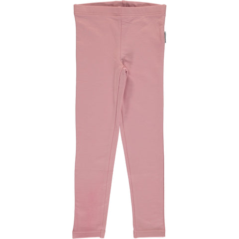 Maxomorra Leggings Dusty Pink SWEAT - Poeder Roze Legging Sweat Stof