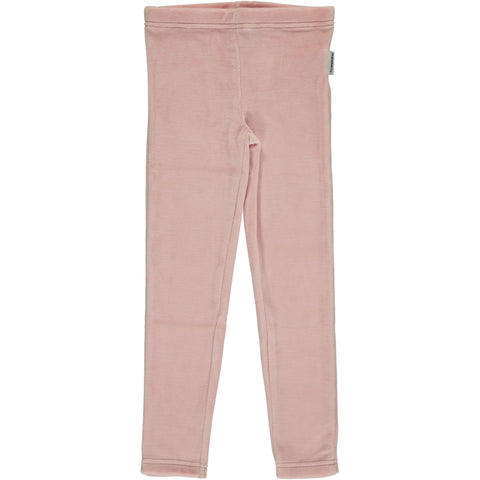 Maxomorra Leggings Dusty Pink Velours - Poeder Roze Legging Velours