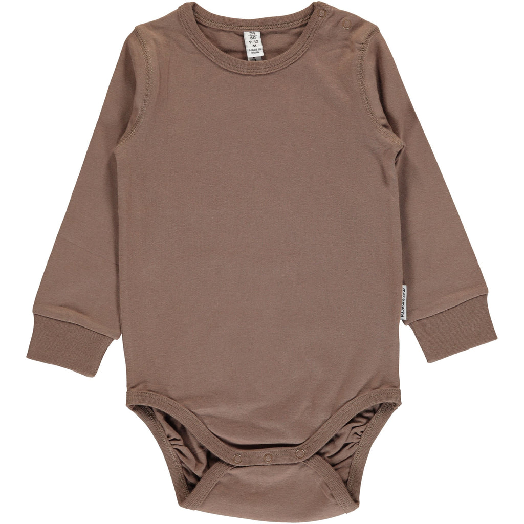Maxomorra Body Hazel Brown - Romper Hazelnoot Bruin