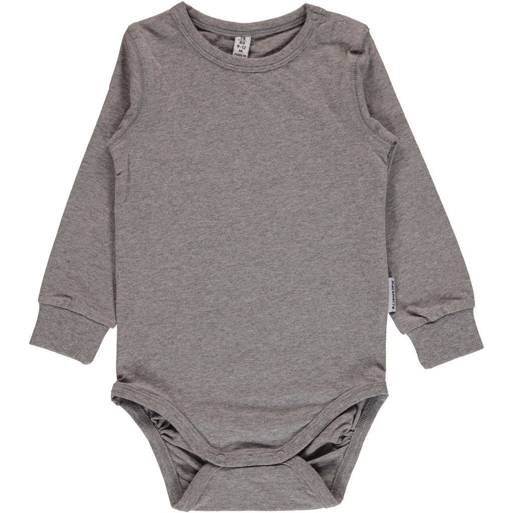 Maxomorra Body Grey Melange Light - Romper Grijs