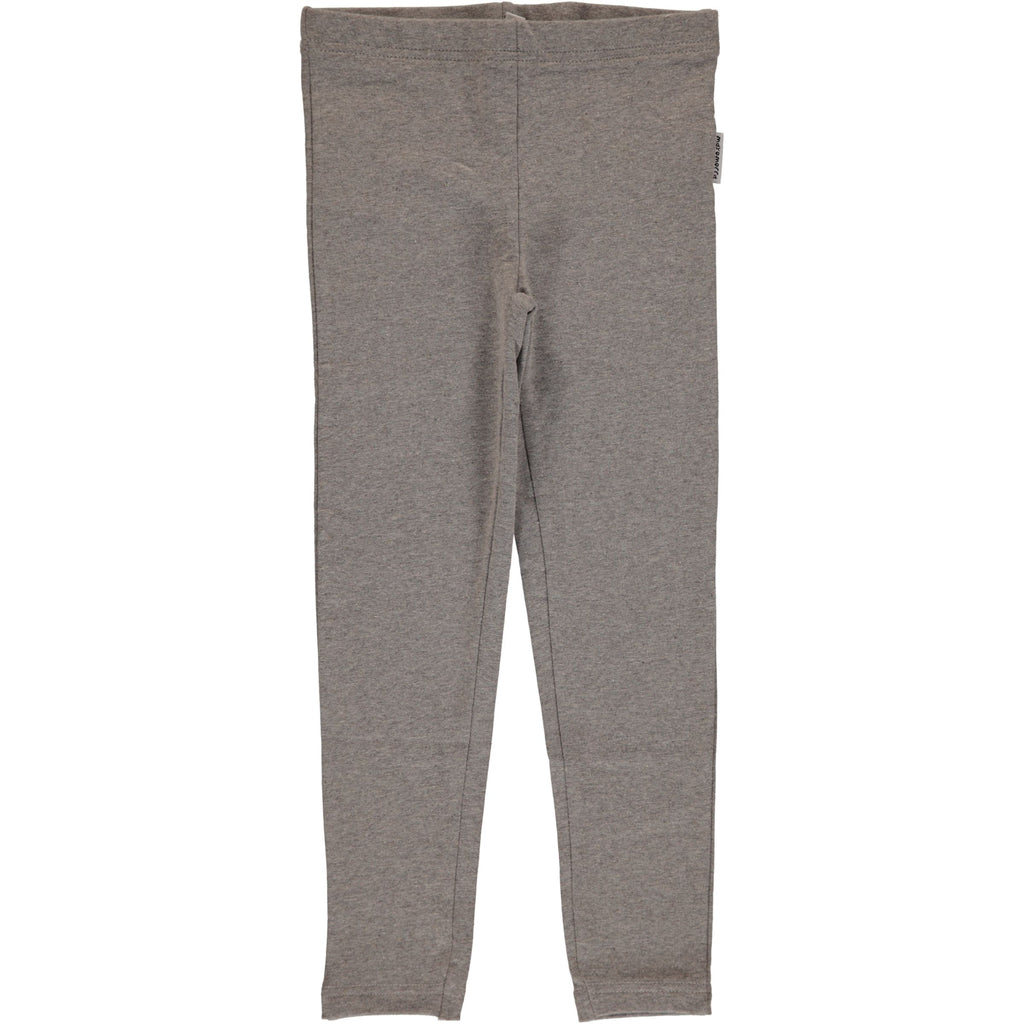 Maxomorra Leggings Light Grey Melange SWEAT - Licht Grijze Legging Sweatstof