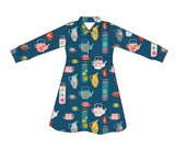 Baba Babywear Polo Dress Pink Birds - Lichtroze Jurk Vogels