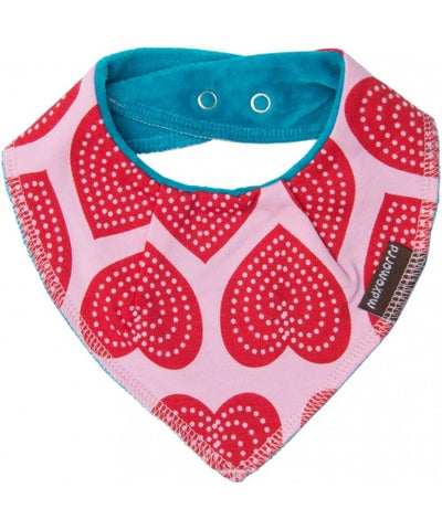 Maxomorra Dribble Bib Hearts One Size