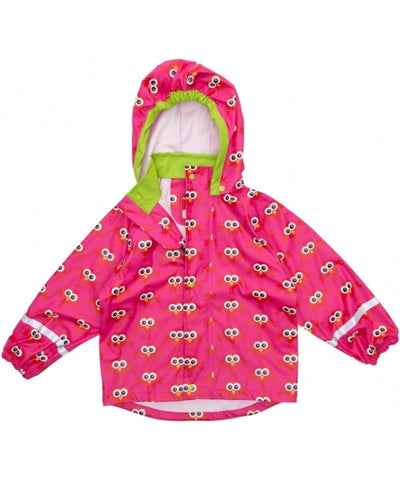 Maxomorra - Rainjacket Pink Birds Regenjas Roze Vogels