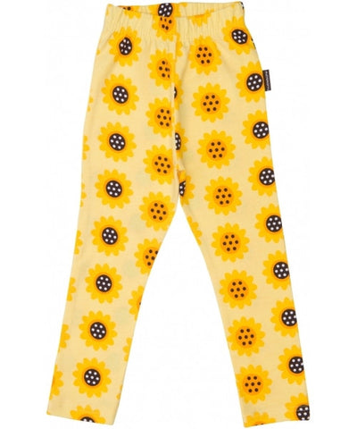 Maxomorra Tights Legging Yellow Sunflower Zonnebloem Geel