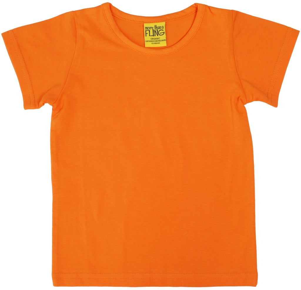 More Than A Fling T Shirt Orange - Shirt Oranje