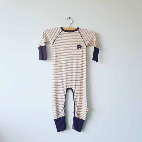 Alba of Denmark - Astrid Playsuit Striped Brown