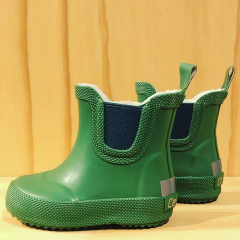 Celavi Basic wellies Short Solid Elm Green - Regenlaarsjes laag model Groen