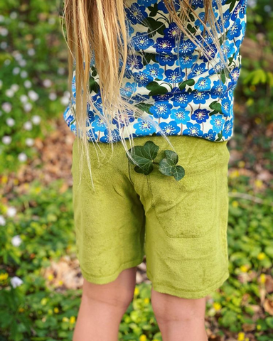 Duns Sweden - Shorts Terry Spinach Green - Korte Broek Badstof Spinazie Groen