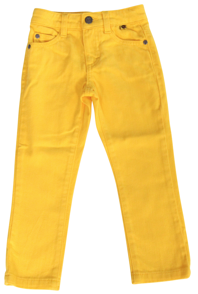 Smafolk - Gele lange Broek  - Yellow Denim