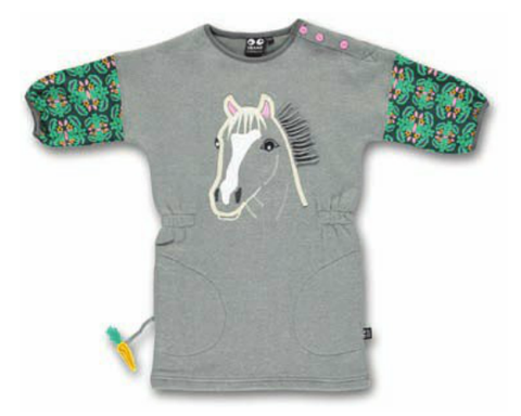 Ubang Dress Grey Horse - Jurk Paard