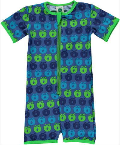 Smafolk - UV-Suit Apples Blue/Green