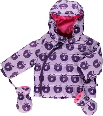 Smafolk Winterjas BABY Lila Appels - Winterjacket Lila Apples