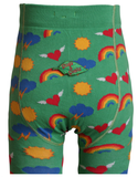Slugs and Snails - Tights Retro - Maillot Groen met Retro & Regenbogen