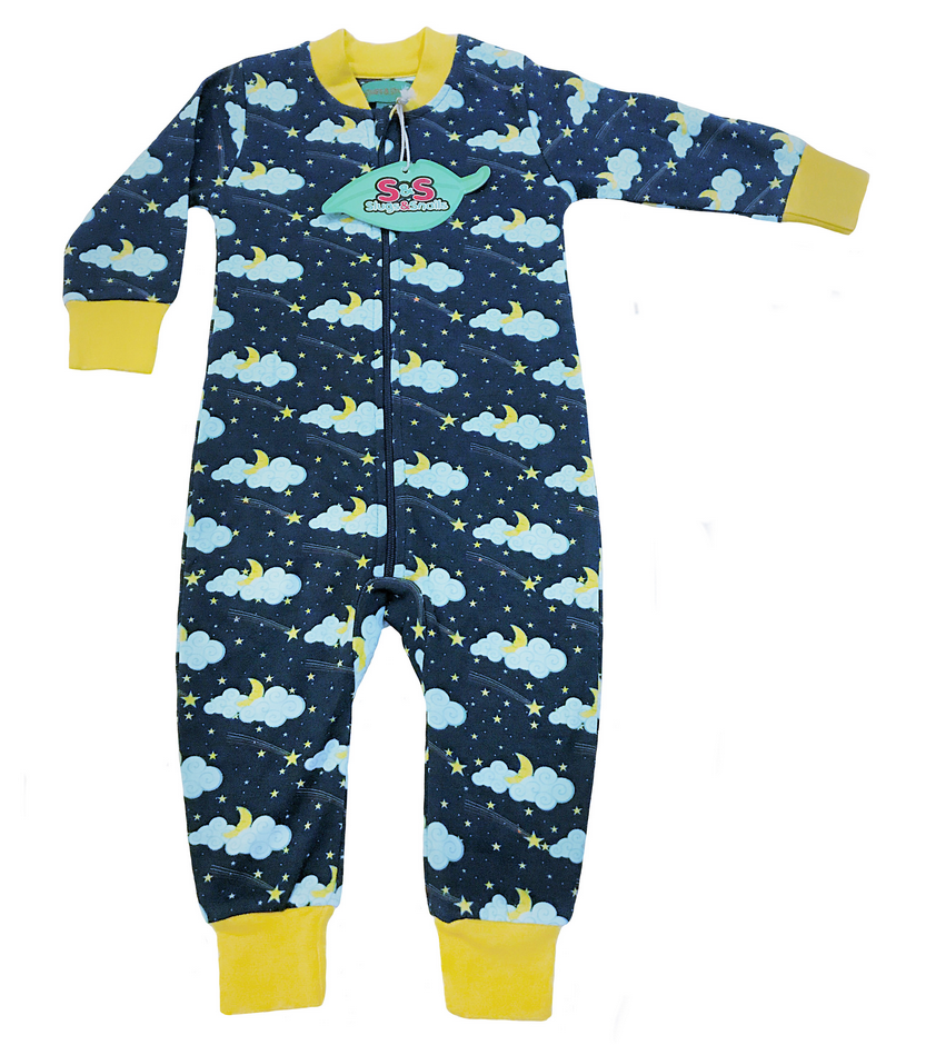 Slugs & Snails Zipsuit Pyjama Jumpsuit Stars