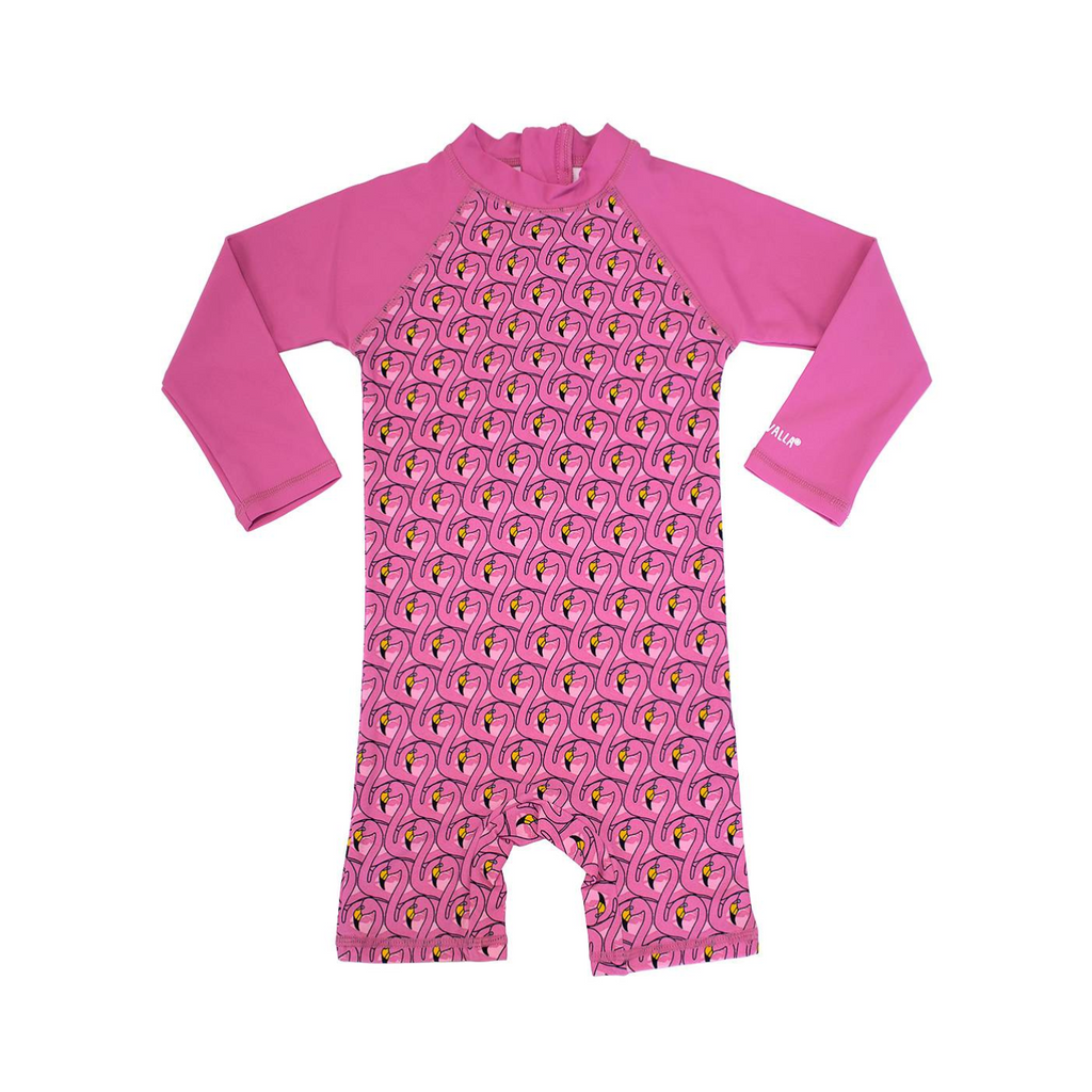 Villervalla - UV Suit Shirt Flamingo - UV pak Flamingo