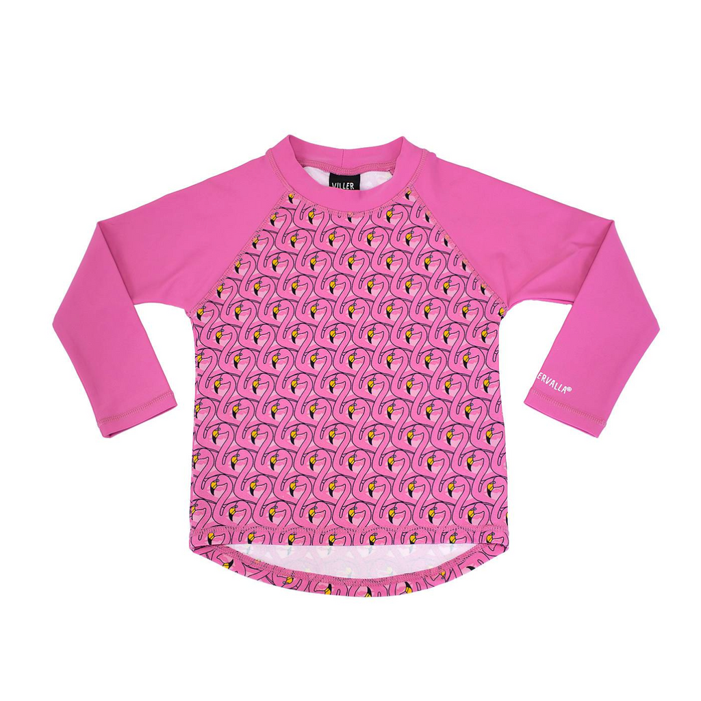 Villervalla - UV Swim Shirt Flamingo - UV Longsleeve Flamingo