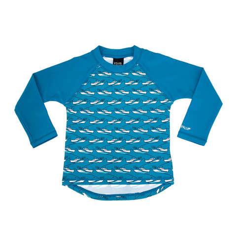 Villervalla - UV Swim Shirt Sharks - UV Longsleeve Haaien