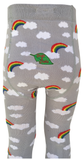 Slugs and Snails - Tights Storm Clouds and Rainbows - Maillot Regenboog
