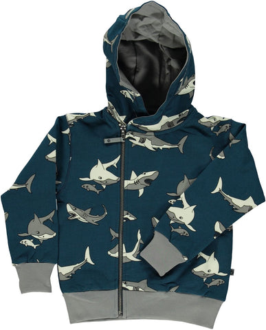Smafolk Sweat Jacket Shark - Vest Haaien