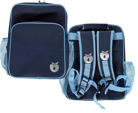 Smafolk Backpack with big reclector apple Navy