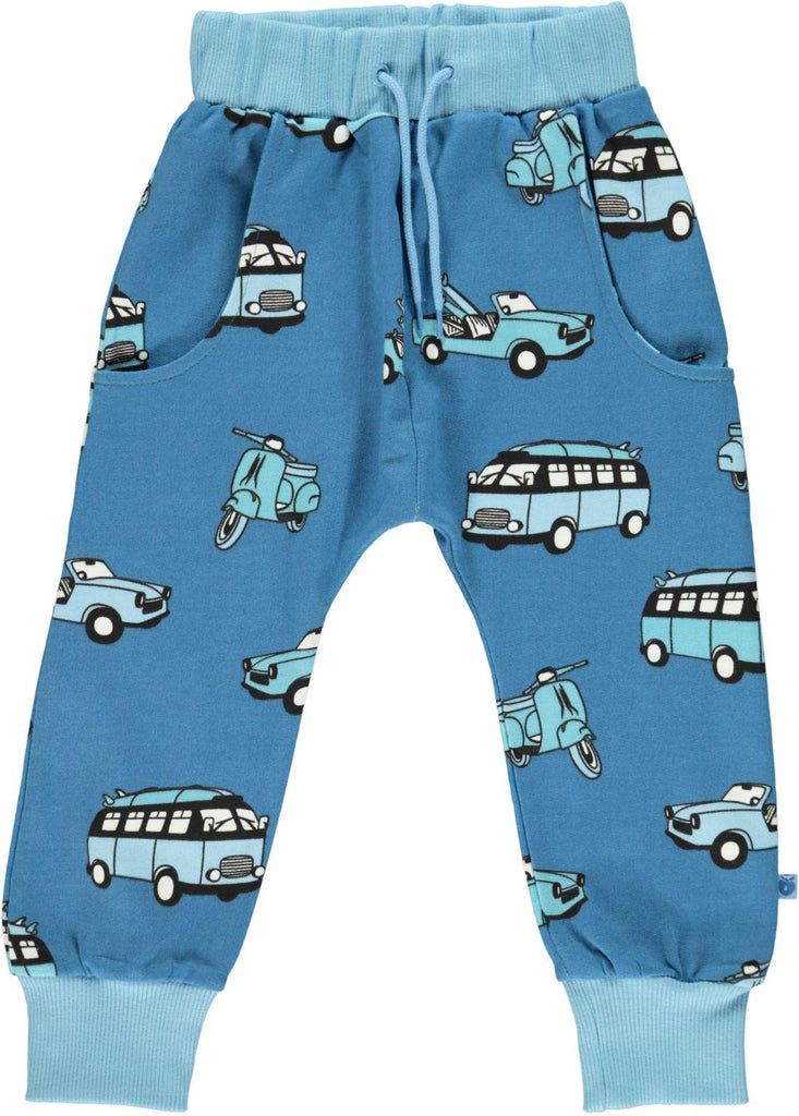 Smafolk Sweat Pants Voertuigen Blauw - Vehicles Blue