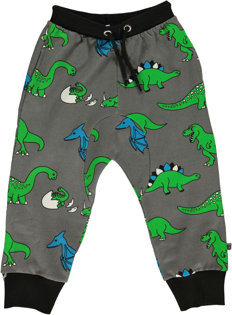 Smafolk - Baggy Pants Grey - Green Dino'