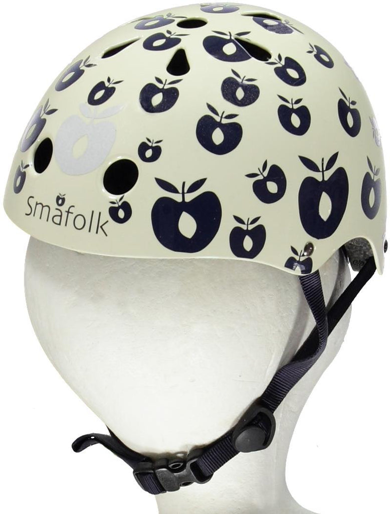 Smafolk Bicycle Helmet Apples Navy