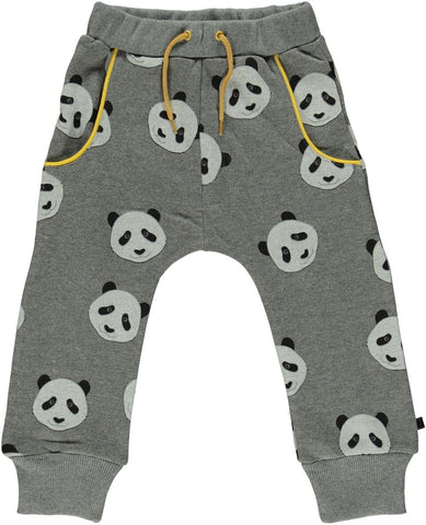 Smafolk Sweat Pants Grey Panda Face