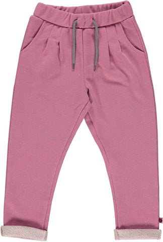 Smafolk Sweat Pants Rose Glitter