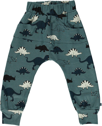 Smafolk Sweat Pants Blue Dinosaur Dino