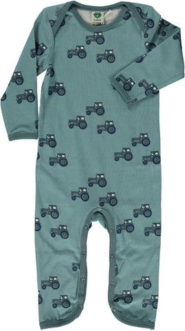 Smafolk - Jumpsuit Steen Blauw Tractor - Stone Blue Tractor