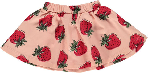 Smafolk - Rokje Roze Aardbeien - Skirt Pink Strawberries