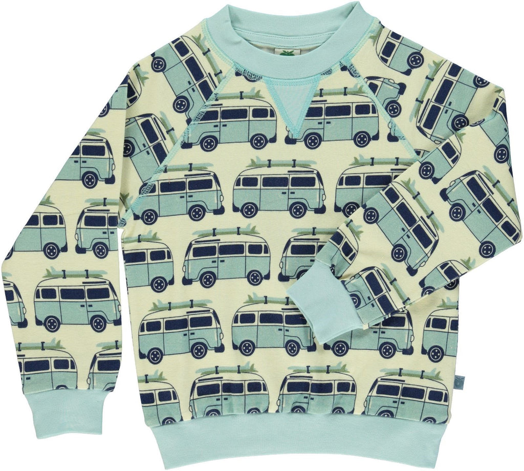 Smafolk Sweatshirt Blauwe Surfer Bus - Blue