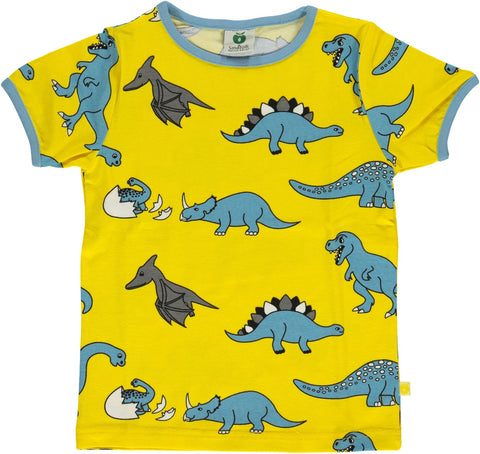 Smafolk - T-Shirt Yellow Dino's